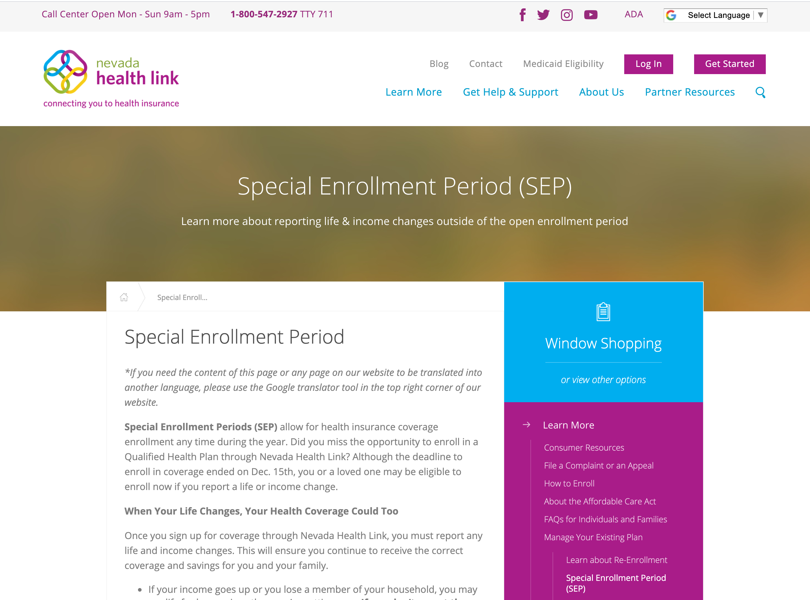 Nevada Health Link ECSEP